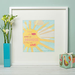 'Bring me sunshine' - personalised