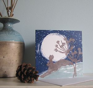 Midnight Hare Greetings Card