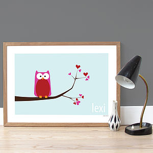 Personalised 'Love Tree' Poster