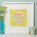 Personalised 'Apple Of My Eye' Nursery Print