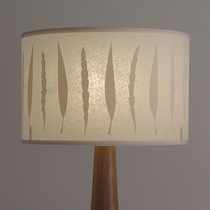 Autumn Leaf Drum Lamp - bedside lamps