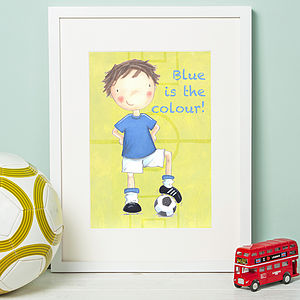 Favourite Football Team Print 'Chelsea' - children's room