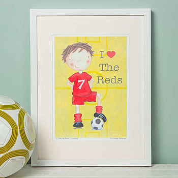 Liverpool Style Football Print