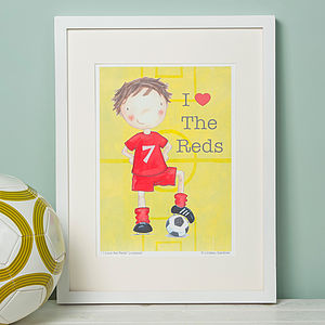 Liverpool Style Football Print - children's room