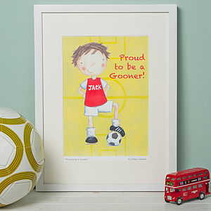 Arsenal Football Print - children's pictures & paintings