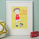 Arsenal Footballer Print