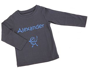 Personalised Boy's Long Sleeved T Shirt