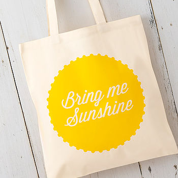 'Bring Me Sunshine' Cotton Tote Bag