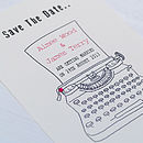 Old Typewriter Style Save The Date Card
