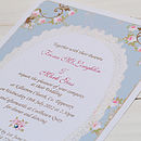 Vintage Rose Frame Wedding Invitations