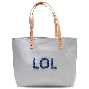 Heather Grey LOL Tote - bags, purses & wallets
