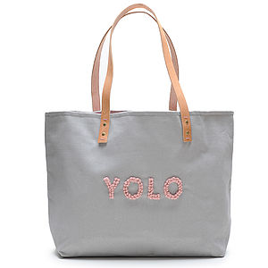 'YOLO' Tote - bags, purses & wallets