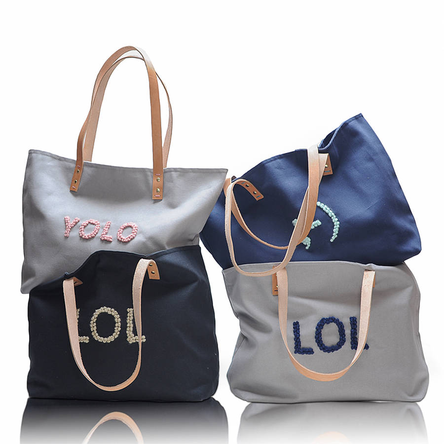 Yolo tote by red ruby rouge notonthehighstreet com