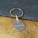 silver key ring personalised.