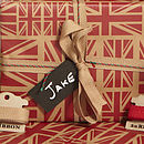 Red Union Jack Christmas Wrapping Paper Set