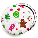 Christmas Candy Compact Mirror - White