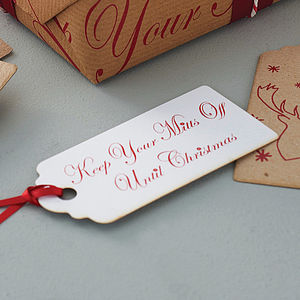 'Keep Your Mitts Off' Christmas Gift Tags - cards & wrap