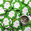Halloween Badges - Ghosts (green)