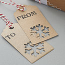 Recycled Lasercut Snowflake Gift Tags