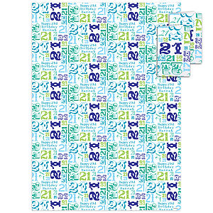 21St Birthday Personalised Gift Wrap