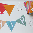 Card Alphabet Bunting Kit