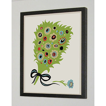 Bouquet Signed Silk Screen Art Print