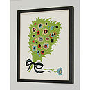 Thumb bouquet signed silk screen art print
