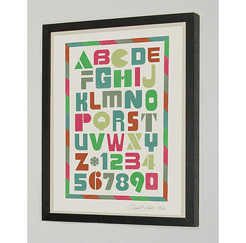 Alphabet Signed Silk Screen Art Print