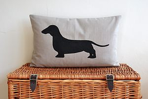 Dachshund Dog Cushion - bedroom