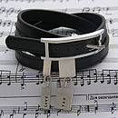 Leather Bracelet And Personalised Silver Tags