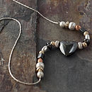 Keimau Hematine Heart Necklace