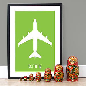 Personalised 'Big Plane' Poster