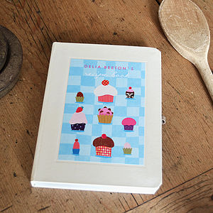 Personalised Cupcakes Notebook - stocking fillers under £15