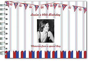 Personalised Union Jack Memory Book - albums & guest books