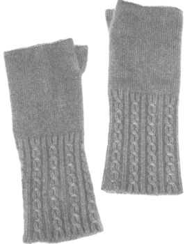 Cashmere Mother's Day Cable Wrist Warmers