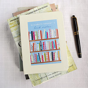 Personalised Books Notebook - gifts for book-lovers