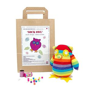 Sock Owl Craft Kit - creative activities