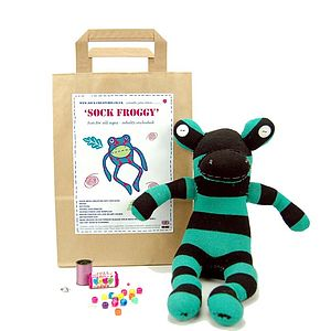 Sock Frog Craft Kit - toys & games
