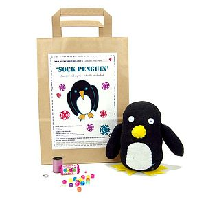 Sock Penguin Craft Kit - stationery & creative activities