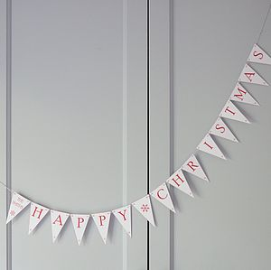 Happy Christmas Bunting - garlands, bunting & hanging decorations