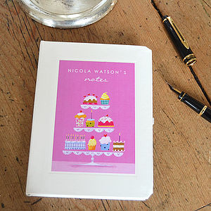 Personalised Cakes Notebook - gifts for children to give