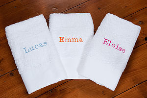 Personalised Luxury Towels - bathroom