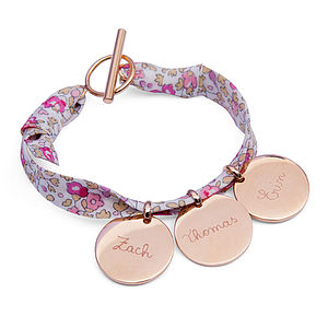 Personalised Liberty Charm Bracelet - baby & child