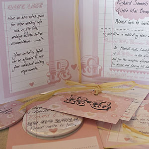 Sweethearts Wedding Stationery Range - save the date cards