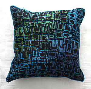Ocean Batik Cushion - decorative accessories