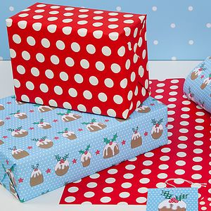 Festive, Christmas Wrap Puds - wrapping