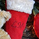 Christmas Stocking With Teddy Bear Crochet