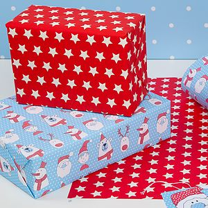 Festive Faces Festive, Christmas Wrap - ribbon & wrap