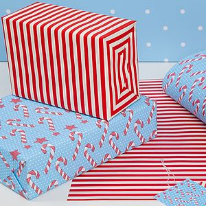 Candy Canes Festive, Christmas Wrap - ribbon & wrap