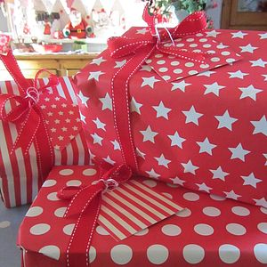 Mixed Selection Of Festive, Christmas Wrap - wrapping